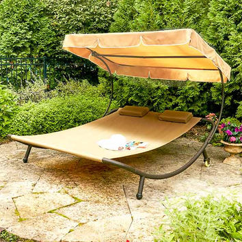 Double Sun Lounger with Canopy