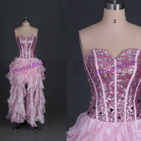 2014 pink tulle homecoming dress with sequins,unique sweetheart prom dresses hot,chic cheap women gowns for holiday party.