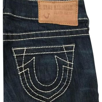 NWT True Religion Candice Flare Leg Jeans, Dark Blue, Size 28
