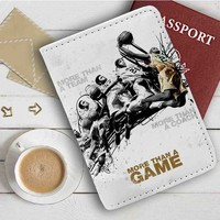 Lebron James More Than A Game Leather Passport Wallet Case Cover