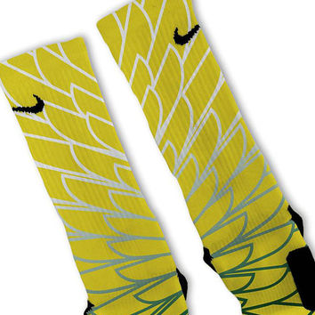 Wings 5 Customized Nike Elite Socks Fast Shipping!