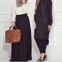 NOIRE PLEATED SKIRT NOIRE PLEATED SKIRT [] - $55.28 : Inayah, Islamic clothing & fashion, abayas, jilbabs, hijabs, jalabiyas & hijab pins