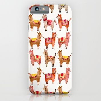 Alpacas iPhone & iPod Case by Cat Coquillette
