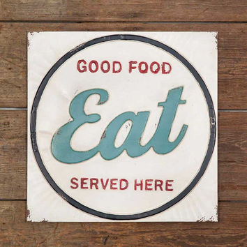 """Eat"" Metal Wall Sign - *FREE SHIPPING*"