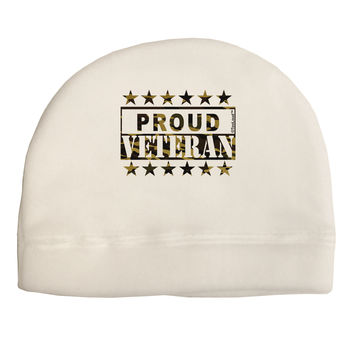 Proud Veteran Camo Adult Fleece Beanie Cap Hat
