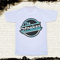 Size S, M, L, XL - The Strokes TShirts Text Shirts Rock TShirts Unisex TShirts Women TShirts White TShirts The Strokes Shirts