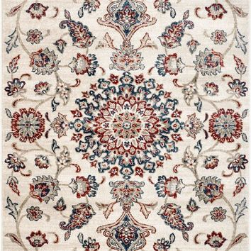 4624 Ivory Persian Medallion Oriental Area Rugs