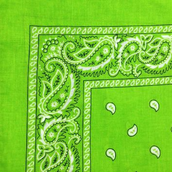 Lime Green Bandana