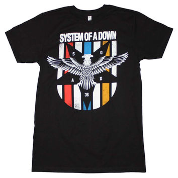 Men's Rock T-Shirt - System of a Down Eagle Colors