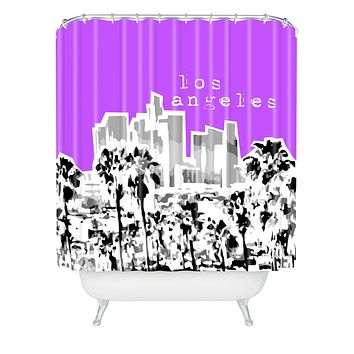 Bird Ave Los Angeles Purple Shower Curtain
