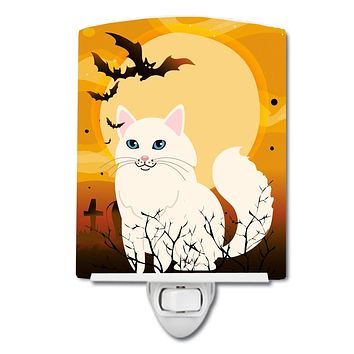 Halloween Turkish Angora Cat Ceramic Night Light BB4438CNL