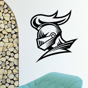 WALL DECAL VINYL STICKER ANCIENT WARRIOR KNIGHT HELMET DECOR SB354