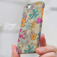 iphone case : abstract flowers
