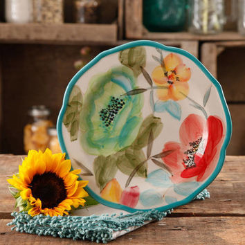"The Pioneer Woman Vintage Bloom 8.5"" Decorated Salad Plate - Walmart.com"