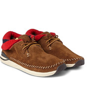 Visvim - Malisset-Folk Suede and Knitted Sneakers | MR PORTER