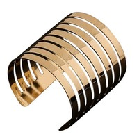 New Fashion Women's Vintage Gold  Punk Cuff Bracelet Jewelry Gold