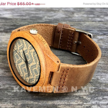 SALE Wood Watch. Mens Watch. Engrve Watch. Personalized Watch. Mens. Mens Watches. Mens Personalized Watch. Miami. Kavemen.