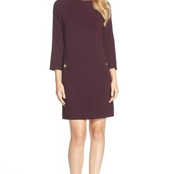 Women's Eliza J Ponte A-Line Dress,