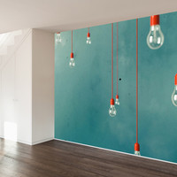 Red Edison Wall Mural Decal