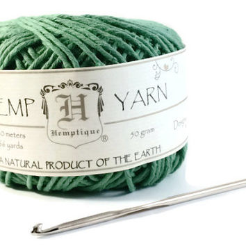 Hemp Yarn, Green Cotton Hemp Yarn, Organic Cotton Hemp, Soft Hemp, Knitting Hemp Yarn