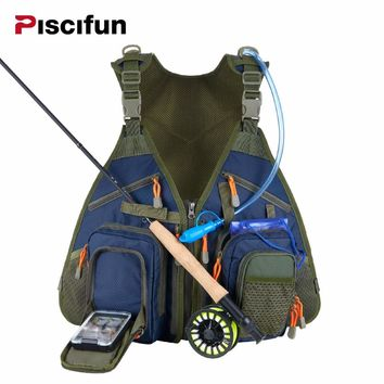 Fly Fishing Vest Fishing Angler Vest for Tackle and Gear Includes Water Bladder and Waterproof Phone Pouch