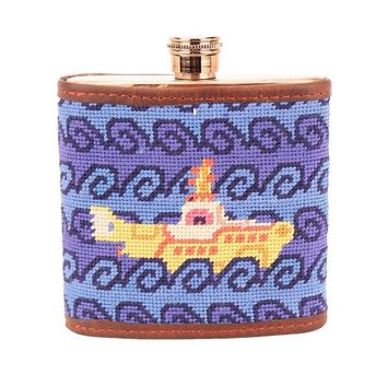 Beneath The Waves Needlepoint Flask by Smathers & Branson