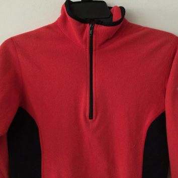Sale!! Vintage Womens The North Face Polartec Casual training running pullover jacket