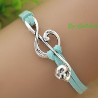 The love in music bracelet, musical note bracelet,a retro silvery bracelet,a gift for your lover---S066