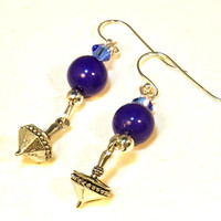 Hanukkah Chanukah Dreidel Festival of Lights Earrings