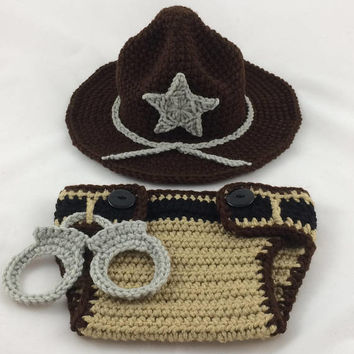 Deputy Sheriff Baby Outfit - State Trooper - Police Officer Baby - Sheriff Deputy - Baby Police Outfit - Park Ranger - Baby Police