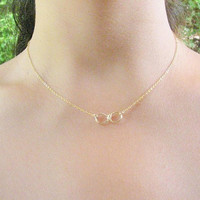 Infinity necklace, Infinity gold necklace,gold filled necklace, delicate dainty necklace, bridesmade gift, eternity necklac