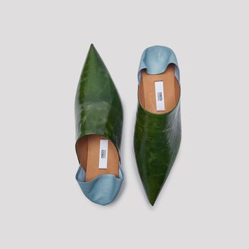 FERNAN FOREST LEATHER FLATS