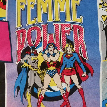 Wonder - woman - bat - girl - super - Girl - Camelot - fabric - cotton - quilting - dc - comics - print