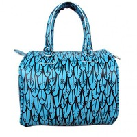 Feather Capri Blue Fatchel Bag