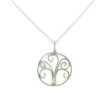 Sterling Silver Tree of Life Pendant, Family Tree Necklace, Mothers Day Gift Idea, Gift for Her, Unique Birthday Gift