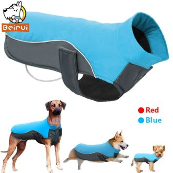 Waterproof Dog Clothes Vest Jacket Warm Reflective Pet Clothes Winter Puppy Coat For Small Medium Large Dogs Chihuahua Pitbull