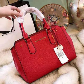 MK MICHAEL KORS 2018 new women's fashion single shoulder Messenger bag Red