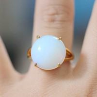 Rainbow Moonstone Handmade Ring gold adjusted jewelry [R70A] : The water for design jewelry