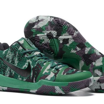 Nike Kyrie Irving 3 Green Camo Basketball Shoe 40-46