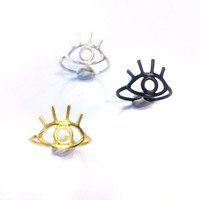 Eye Ring - 925 Sterling Silver