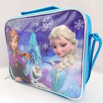 Snow Queen Anna Character elsa Lunch Bag Cartoon Childers Lunchbox for Girls Lunch Tote