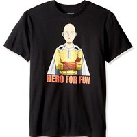 ANIME One Punch Man SAITAMA HERO FOR FUN T-Shirt NWT 100% Authentic