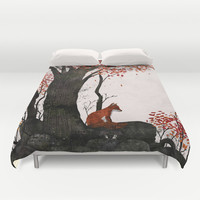 Fantastic Mr. Fox Doesn't Feel So Fantastic Anymore Duvet Cover by Gelrev Ongbico