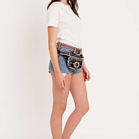 Ecote Carpet Tapestry Bum Bag in Blue and Red - Urban Outfitters