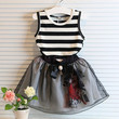Girls 2 PC Set Double Layer Tutu Skirt and Top