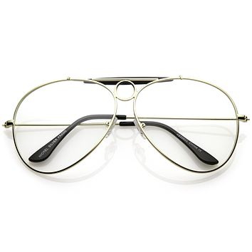 Oversize Retro Dad Fashion Clear Lens Aviator Glasses C301