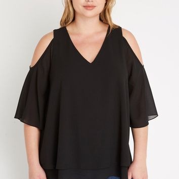 Tour de Eiffel Chiffon Top Plus Size