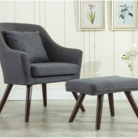 Modern Design Armchair Chair Footstool Living Room - Free Shipping