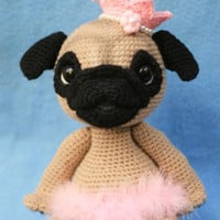 Elfin Thread- Queency The Pug Puppy Amigurumi PDF Pattern (Crochet Pug Amigurumipattern)