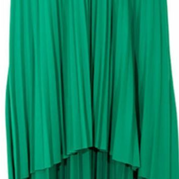 Emerald Flair Pleated Skirt